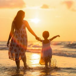 mother-and-daughter-at-sunset